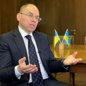 Ukrainian health minister Stepanov attends an interview in Kiev on April 29, 2020. Credit: Reuters/Sergiy Karazy