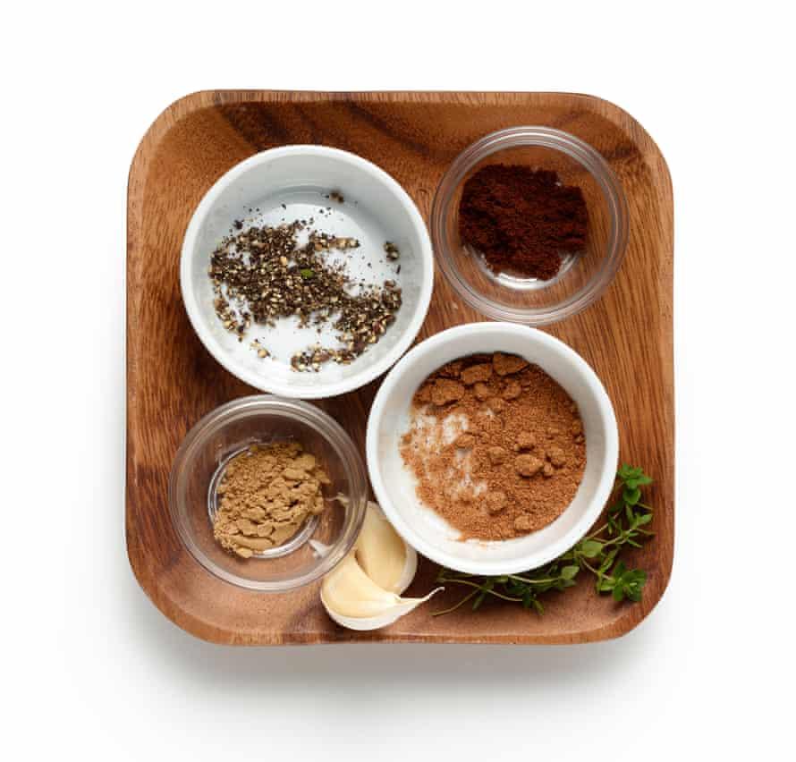 Felicity Cloake's paté de campagne 2: assembled spices