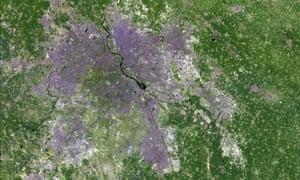 Urban expansion New Delhi