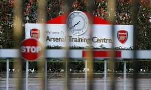 Arsenal's training ground remains closed
