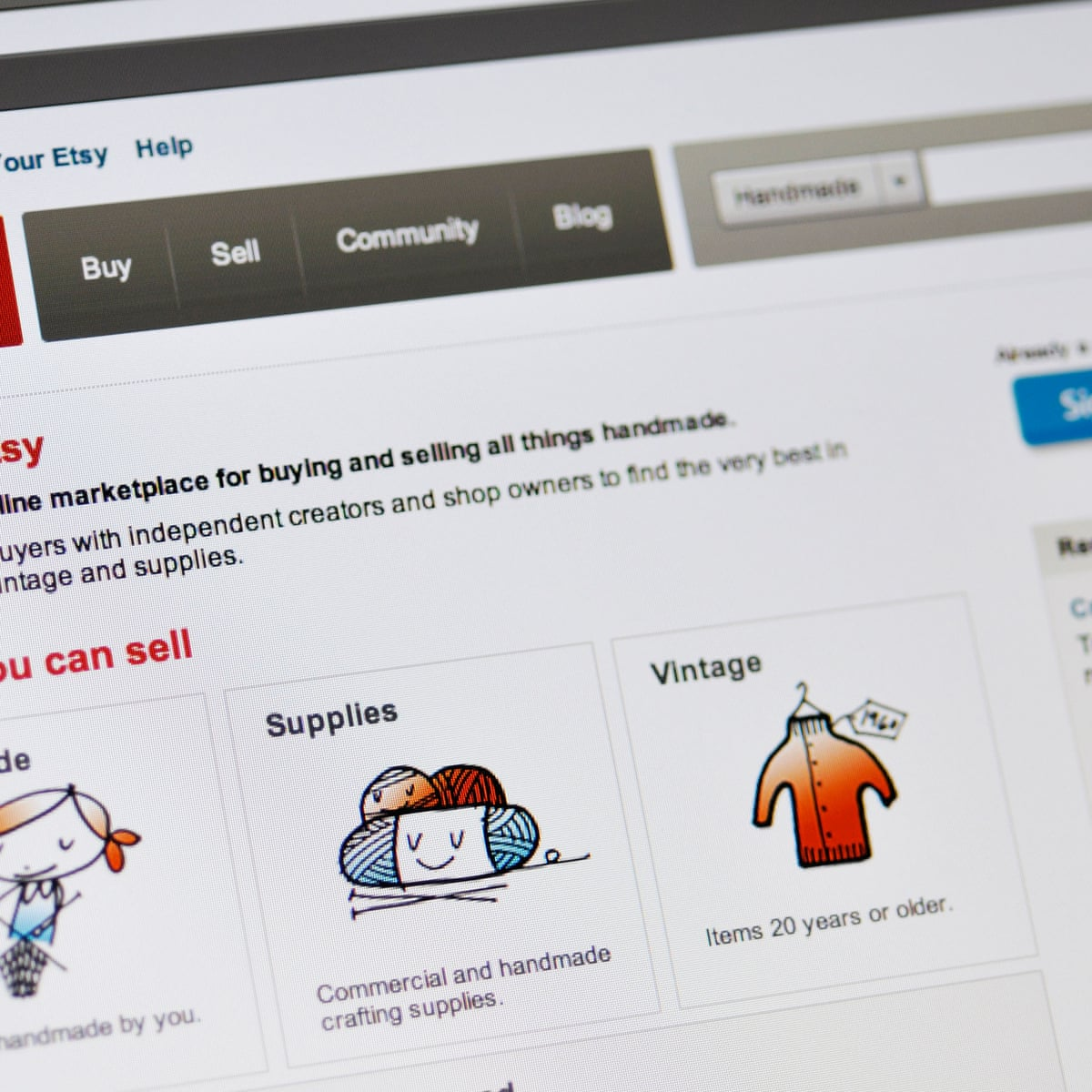 You Thought Ebay Is Unfair To Sellers It S Got Nothing On Etsy Online Shopping The Guardian