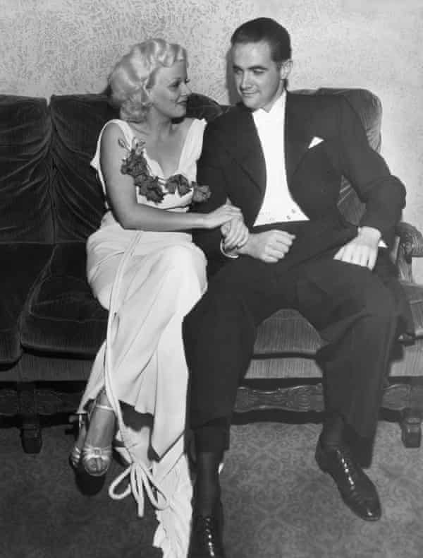 Legendary aviator and millionaire eccentric Howard Hughes with leading lady Jean Harlow.