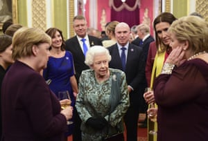 The Queen hosts a reception for Nato leaders at Buckingham Palace.