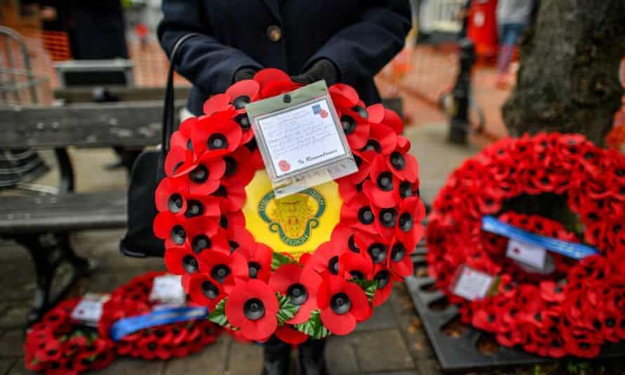 A wreath from the Royal British Legion.