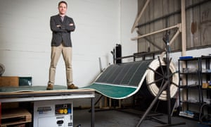 The innovators: portable solar panels that can be unrolled