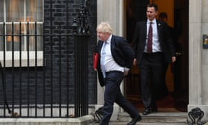 Boris Johnson and Jeremy Hunt leave No 10 Downing Street in 2018