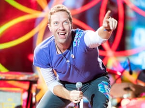 Chris Martin fronts Coldplay at Cardiff's Principality Stadium.