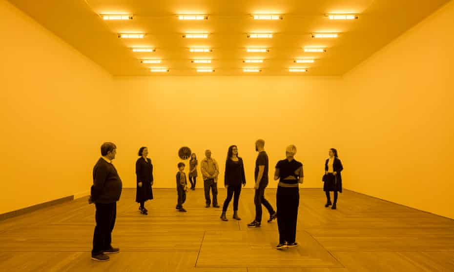 'Shocking light that saturates your eyeballs'… Olafur Eliasson's Room for One Colour, 1997.