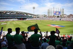 Bangladesh fans, happy with their teams score of 300, their highest ever ODI total.