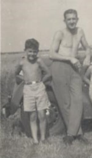 Vic and Bob Jay in 1954