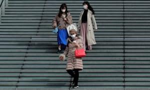 Masked people in Japan