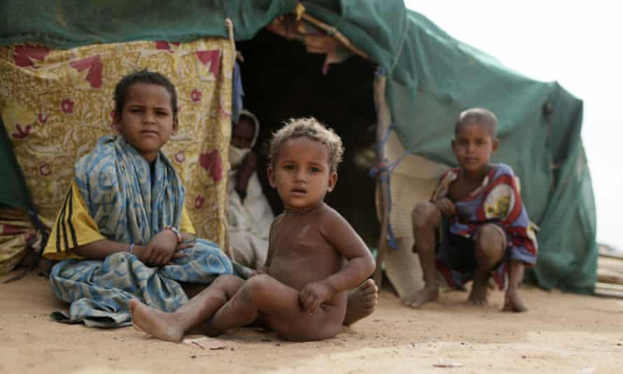 Refugee children at a camp near the Malian border in 2013