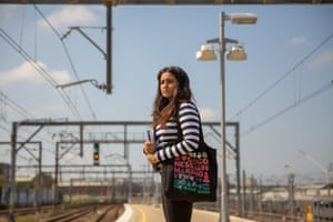 Woman on Sydney train platform for the The Sexism in the City report