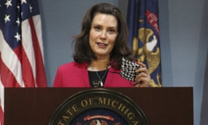Michigan Gov. Gretchen Whitmer, who extended Michigan's stay-at-home order through June 12.
