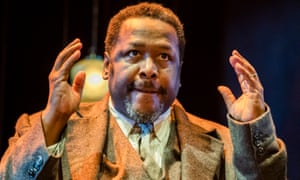 Wendell Pierce as Willy Loman in Death of a Salesman at the Piccadilly Theatre.