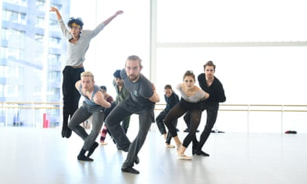 ENB's dancers rehearse Stina Quagebeur's Take Five Blues, one of the works premiered in the forthcoming Sadlers Wells show