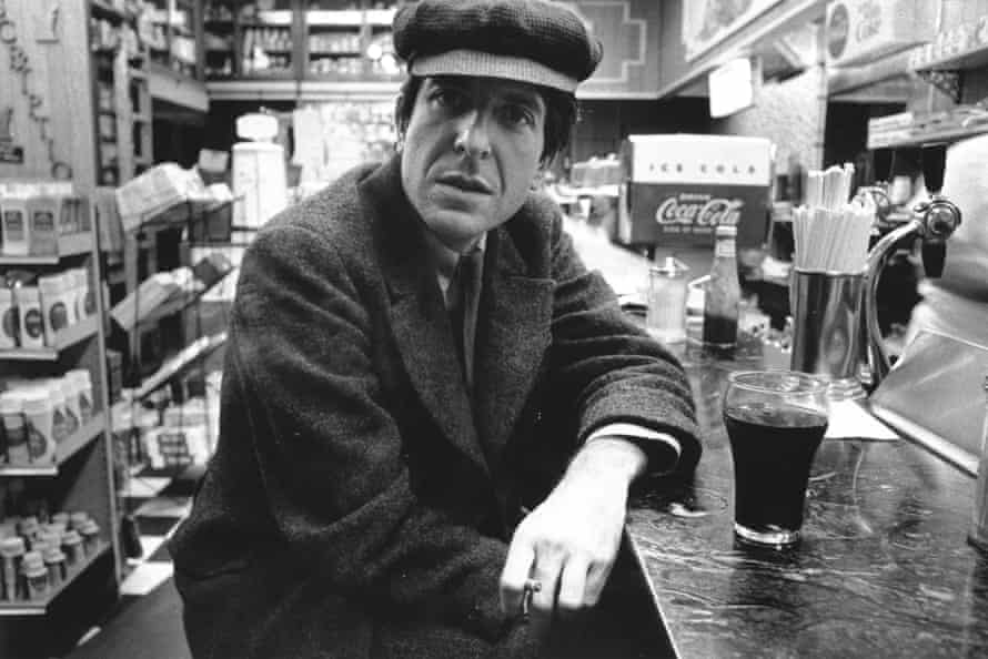 Leonard Cohen pictured in the 1960s.
