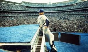 At the Dodger Stadium, LA, in 1975.