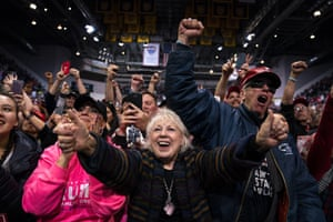 Colorado Springs, US: Donald Trump supporters cheer as he arrives to speak to a campaign rally