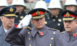 General Sir Nicholas Houghton salutes
