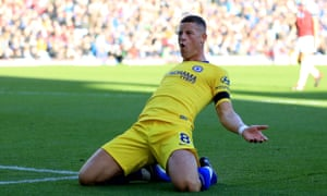 Ross Barkley celebrates after scoring at Burnley last week