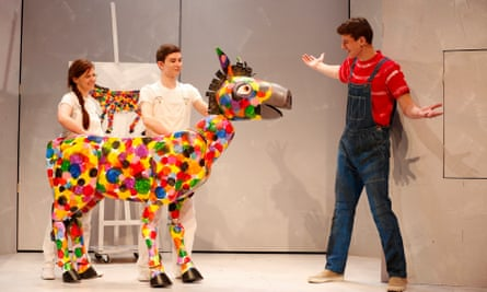 A Polka Dot Donkey greets The Artist