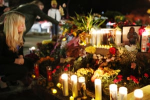 Vigil for the Airbnb shooting victims in Orinda.