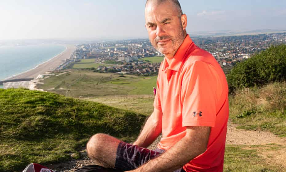 Jon Cooper, who was furloughed in march 2020, at Seaford Golf Club in East Sussex.