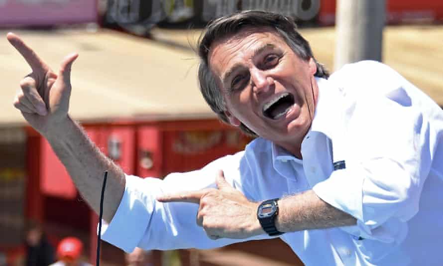 Bolsonaro campaigning in Brasilia before his election last year.