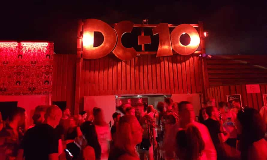 The entrance to the popular club DC-10