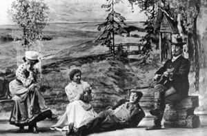 A scene from The Cherry Orchard staged by Konstantin Stanislavsky at the Moscow Art theatre in 1904.