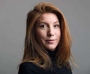 Swedish journalist Kim Wall who was allegedly on board a submarine south of Copenhagen before it sank on August 11, 2017.