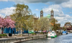 The Shannon waterfront at Athlone in spring.
