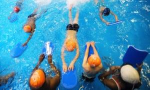 School swimming lesson