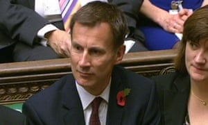Jeremy Hunt in Parliament