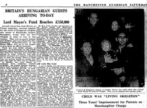 Manchester Guardian coverage of Britain's response to Hungarian refugees in 1956