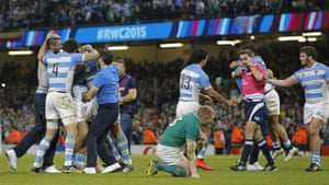 Argentina players celebrate.