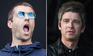 Liam Gallagher, left, who has continued to feud with his brother Noel, right.