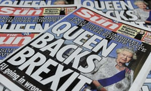 The Sun's controversial 'Queen backs Brexit' edition.