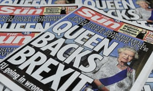 The Sun claimed last week that the Queen backs Brexit.