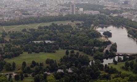 Hyde Park … build a city over it, says Schumacher