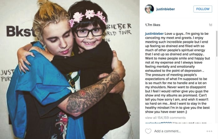 Justin bieber says no more meet and greets with fans sorry life justin bieber says no more meet and greets with fans sorry life and style the guardian m4hsunfo