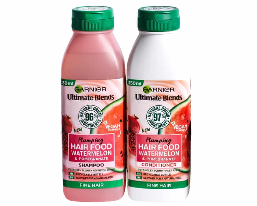 Garnier Ultimate Blends Plumping Hair Food Watermelon Shampoo and conditioner