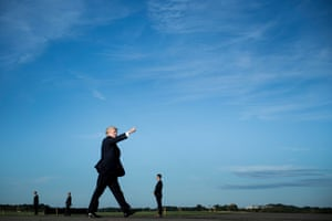 Morristown, New Jersey, USPresident Donald Trump walks towards Air Force One on route to Huntsville, Alabama, where he will speak at a rally for Sen. Luther Strange