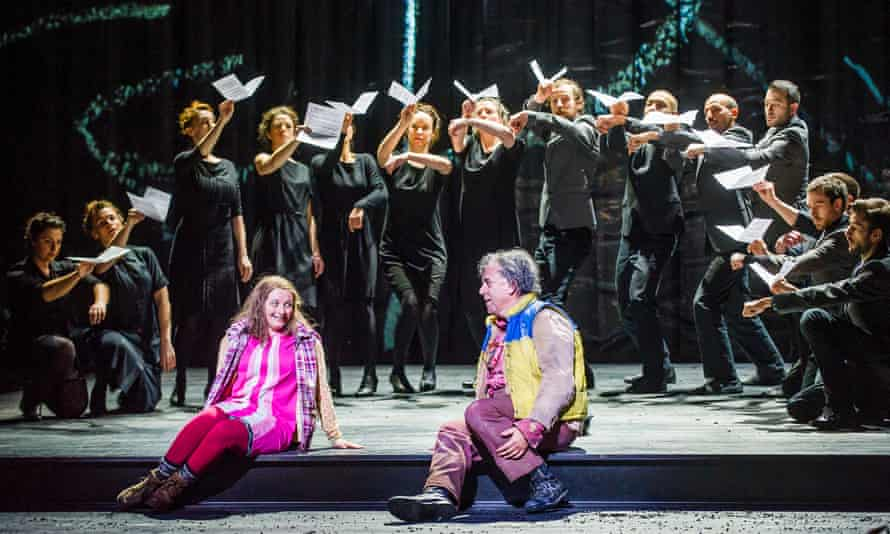 Soraya Mafi and Peter Coleman-Wright in ENO's current production of Mozart's Magic Flute.