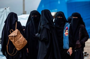 Al-Hol, SyriaSyrian women get ready to leave the Kurdish-run camp holding relatives of alleged Islamic State (IS) group fighters, in the al-Hasakeh governorate. A Kurdish official in charge of the region's camps, said 515 people from 120 families were returning to areas in the east of Deir Ezzor province, the first to do so after the Kurdish authorities in northeast Syria vowed to allow thousands of Syrians including the families of IS fighters out of the over-populated camp