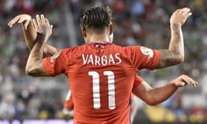 Eduardo Vargas celebration versus Mexico