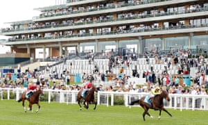 Cloak Of Spirits wins the John Guest Novice Stakes at Ascot on Friday.
