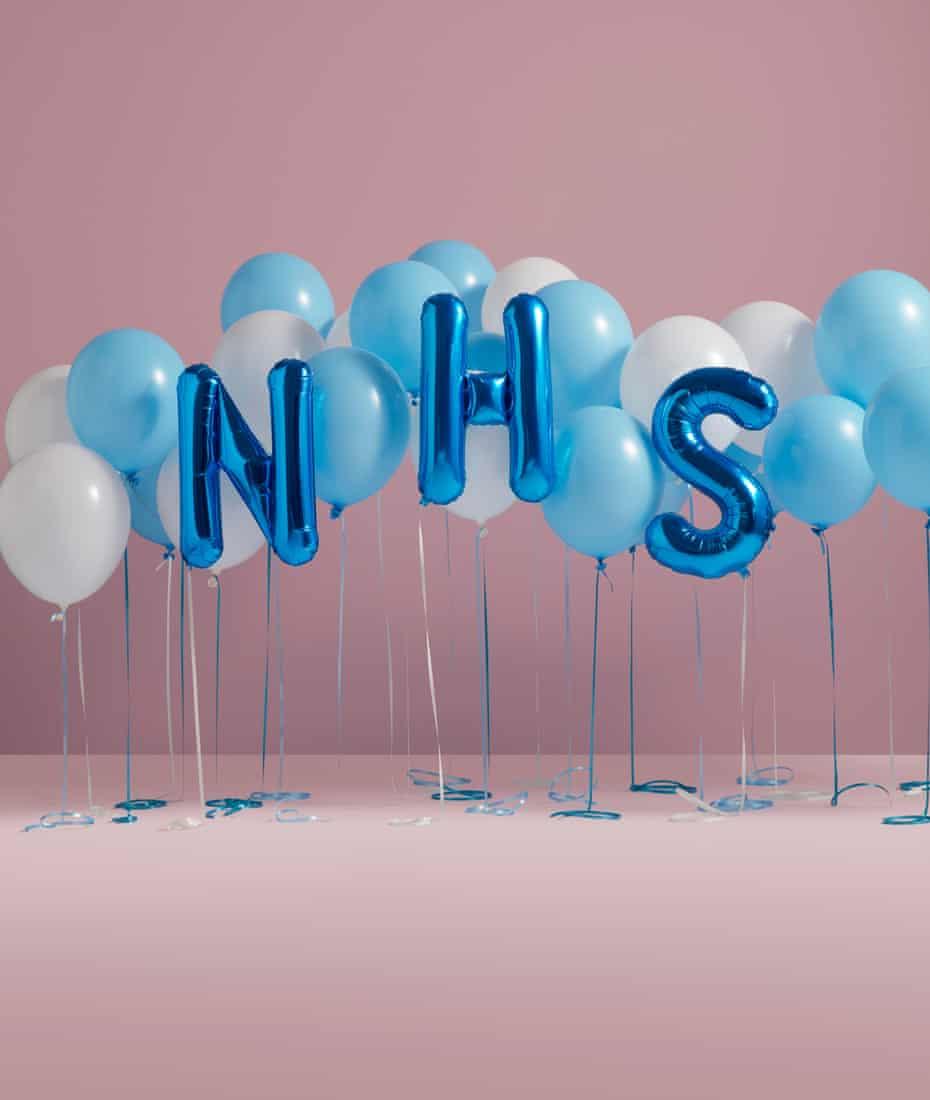 Balloons spelling NHS