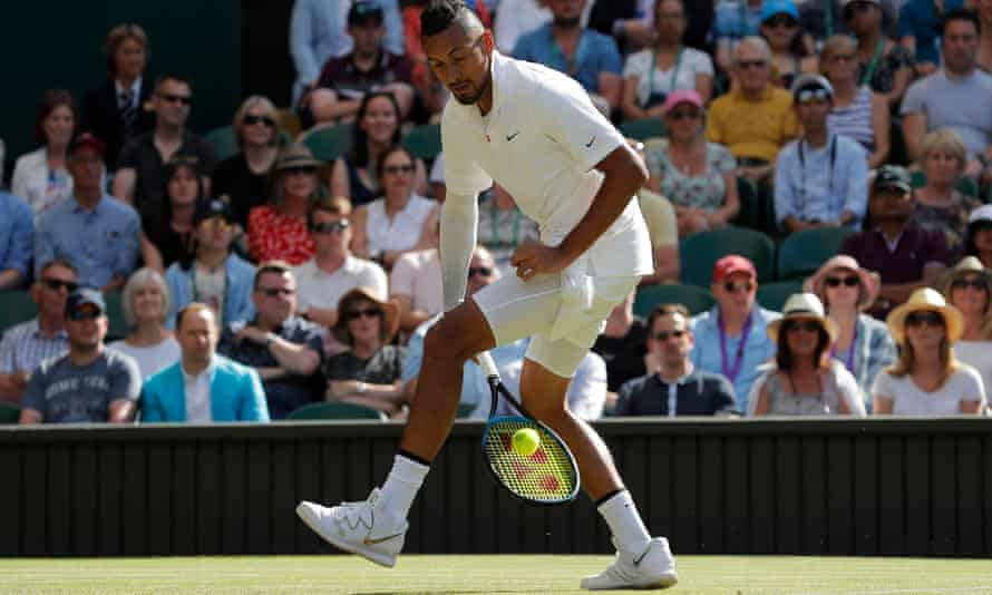 Nick Kyrgios played plenty of trick shots – as well as some sublime tennis – but ran out of steam in the fourth set.